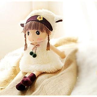 Liying Schöne Puppe Stoffpuppe Plüsch Stofftier Spielzeug Cartoon Deko Toy Geschenk Gift für Kinder Baby Mädchen