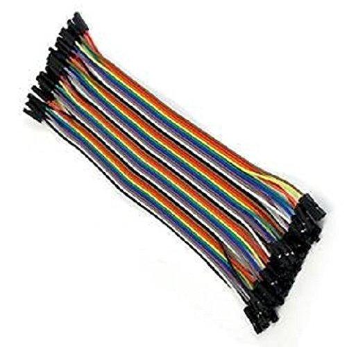 Fivesix 40pcs 20cm 2,54 mm Câbles pour BreadBoard Femelle / Femele - Arduino Femalle Fils jumper Wire Dupont line cable
