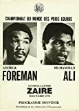 GEORGE FOREMAN VS MUHAMMAD ALI 1974 REPRODUCTION PROGRAMME COVER PHOTO POSTER 40x30cm