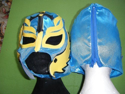 Farbe wird variieren-REY MYSTERIO Wrestling Maske WWE Wrestler Fancy Dress Up Kostüm Outfit Kinder Jungen Kids Neue Rolle Play mexikanischen Party Time Weihnachten Halloween NEU