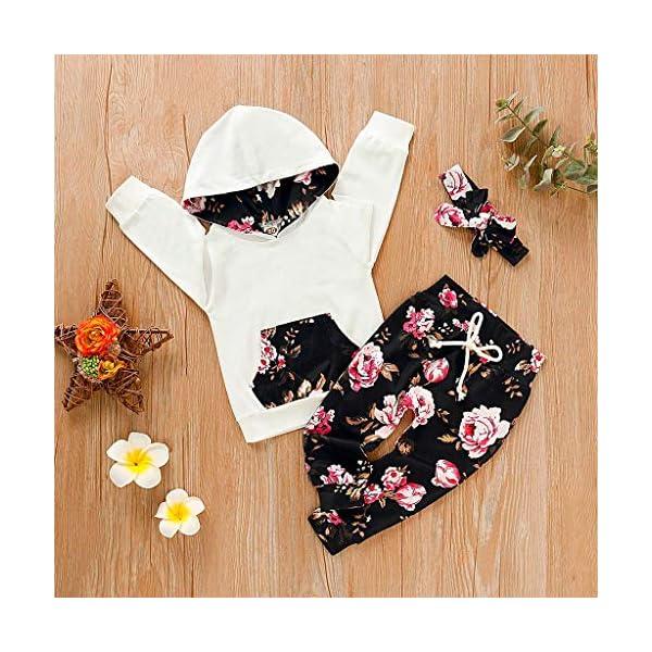 Vectry Ropa para Disfraz Conjunto Infantil Bebé Niñas Sudadera con Capucha Y Impresión Floral Camiseta Tops + Pantalones… 5