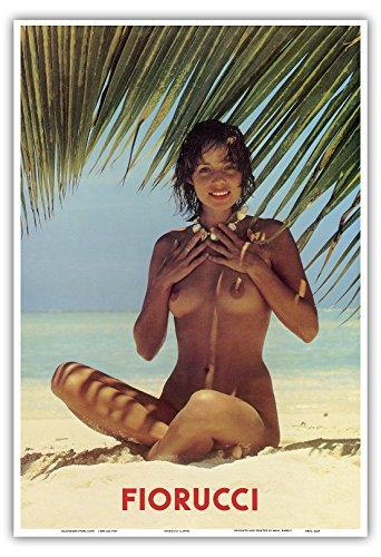 fiorucci-nude-girl-on-beach-vintage-advertising-poster-c1970s-hawaiian-master-art-print-13-x-19in