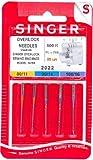 SINGER Overlock Nadeln f. Nähmaschine Nr. 2022 ELx705 500R 05un Stärke 80/11 90/14 100/16