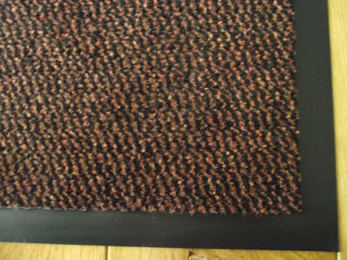 Machine Washable Rust Brown Heavy Quality Non Slip Hard Wearing Barrier Mat. Available in 8 sizes (120cm x 240cm)
