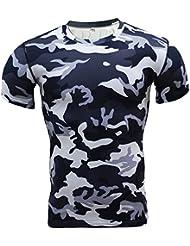 T-Shirt De Compression Manches Courtes Vêtements Fitness Running Homme