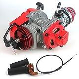 wingsmoto 49cc 52cc Big Bore Pocket Bike engine mit Performance Zylinder CNC Motor Cover Racing Vergaser DIY Motor