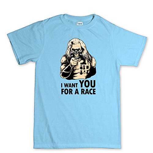 I Want YOU For A Mad Race T-shirt Hellblau