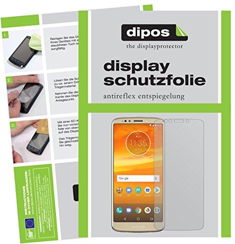 dipos I 4X Schutzfolie matt passend für Motorola Moto E5 Plus Folie Displayschutzfolie (2X Vorder- & 2X Rückseite)