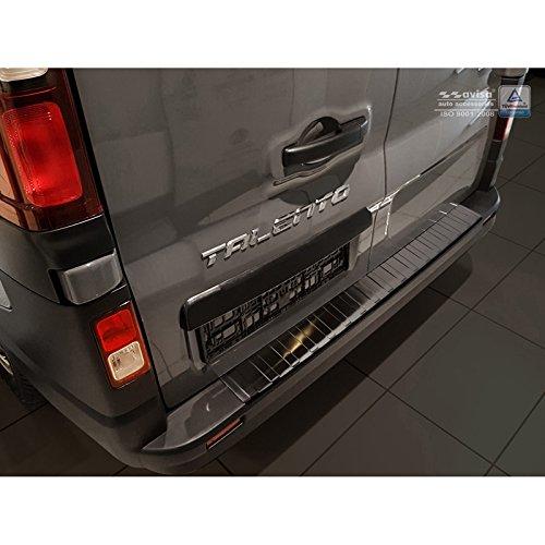 Auto Style 2/45067 - Protector de Parachoques Trasero de Acero Inoxidable Vivaro y Trafic 2014-/Talento 2016-'Ribs, Color Negro