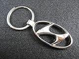 ETMA Portachiavi in Metallo Compatibile con Hyundai Ovale lla001-32