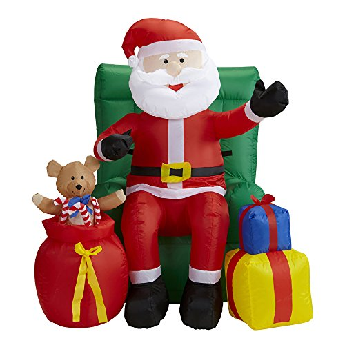 er Weihnachtsmann auf Sessel, Dekoration mit Licht ()