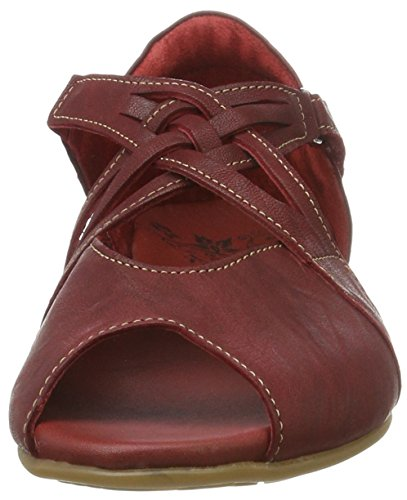 Think! Jaeh, Sandales Bout Ouvert Femme Rouge (Rosso/Kombi 72)