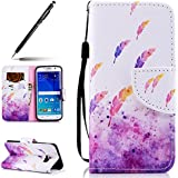 Etui Samsung Galaxy S6 Edge Coque Cuir Portefeuille PU Premium Housse à rabat Case,Uposao Galaxy S6 Edge Flip Cover Cordon Portable Stand Support Magnétique 3D effet Ananas Hibou Motif Galaxy S6 Edge