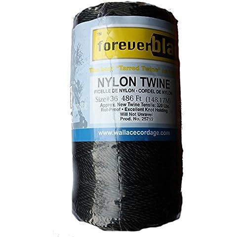 Banca linea 36filo di nylon filato corda Bushcraft 148m Tarred Confezione grande da Twine Wallace Cordage resistenza alla rottura 145kg