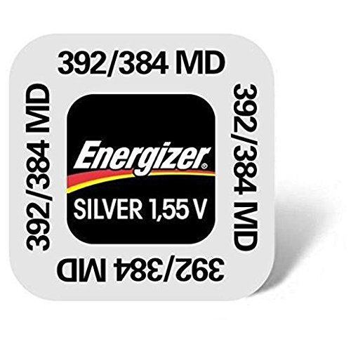ENERGIZER Lot de 3 Blisters de 1 Pile Oxyde d'Argent pour montres 392/384 SR41W