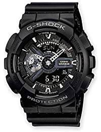 Casio G-Shock Analog-Digital Herren-Armbanduhr GA-110 blau schwarz, 20 BAR