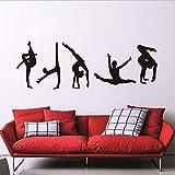 ZHANGKE Schlafzimmer Wandaufkleber, Klassische 5 Gymnastik Muster Moderne Sportzentrum Wohnzimmer PVC Vinyl Dekoration Zubehör