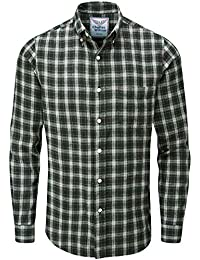 b6ba878353b55 Charles Wilson Camisa Franela de Cuadros Manga Larga para Hombre