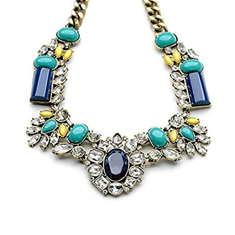 Vintage Style Bib Statement Necklace,Fashion Collar Necklaces Women's Jewellry, Limited Offer