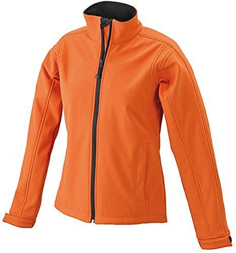 JN137 Ladies' Softshell Jacket Trendige Jacke aus Softshell poporange