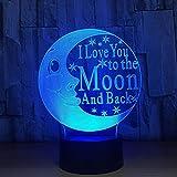ZBHW Optische Täuschung 3D führte Beleuchtungs-Lampen-Nachtlicht, Farben der Tischlampe-7 mit Acryl-USB-Ladegerät für Nachtraum-Kinderhaus-Partei-Feiertags-Dekoration
