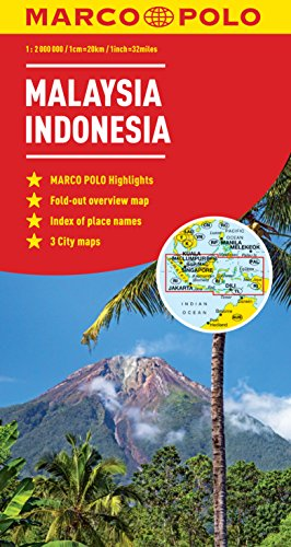 Malaysia, Indonensia Marco Polo Map (Marco Polo Maps)