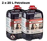 CAGO PetroHeat Petroleum Doppelpack Inhalt: 2X 20 L für Petroleumofen Heizofen Petroleumheizung
