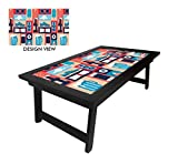 NUTCASE Multipurpose & Portable Lapdesk /Laptop Desk /Breakfast Serving Table/ Bed Tray Foldable, with adjustable tiliting top for Study / Eating / Reading - RETRO ELEMENTS