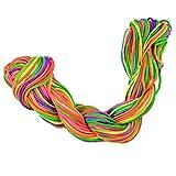 30 Mètres 1mm Fil Kumihimo Cordon Nylon Tressé Fabrication de Bracelet Artisanat - Multicolore