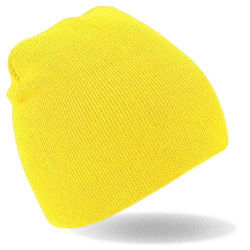 Myrtle Beach Strick Beanie Nr.1 MB7580, Farbe: gelb ()