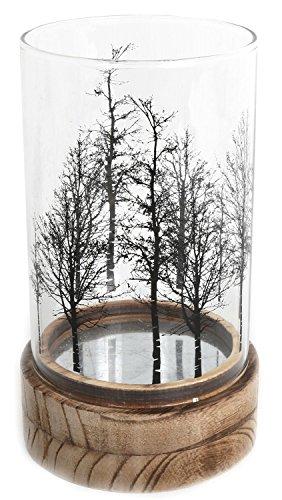 Wunderschöne Baum Glas Holz Kerze Teelichthalter