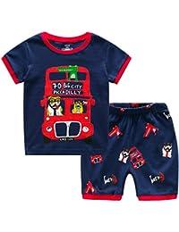 Wobon Pijamas de Niño Pequeño, Juegos de PJ para Niños, Ropa de Dormir de