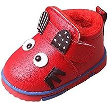 YanHoo Zapatos para niños Dibujos Animados Infantiles más Botas de Piel de Terciopelo cálidas Botas de
