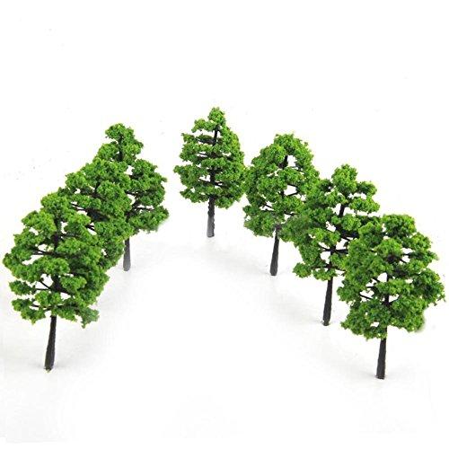 schöne Dekoration 20Modell Bäume Zug Railroad Diorama Planspiel Park Scenery grün Pflanzen Decor Einheitsgröße siehe abbildung ()