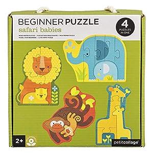 Petit Collage PTC339 Safari Babies - Puzzle para Principiantes, Multicolor