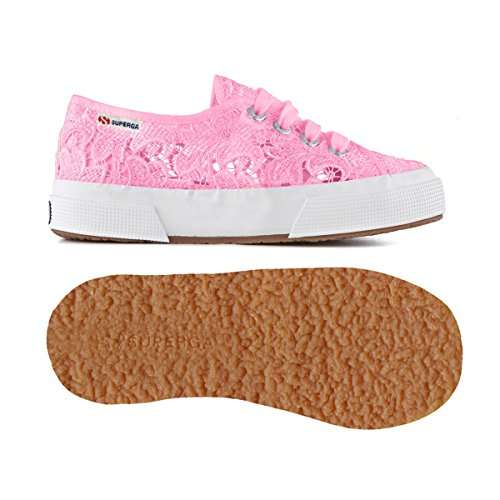 Superga 2750 Macramej, Baskets Basses Mixte Enfant Begonia Pink