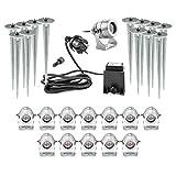 CLGarden LEDSPL13 Ensemble de projecteur de luxe LED (13pcs) blanc chaud miroir 1W High Power LED (blanc chaud à la mode) et boîtier en aluminium usiné, il suffit d'allumer tous les points forts de votre jardin