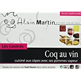 ALAIN MARTIN Coq au Vin Cuisiné aux Cèpes/Pommes Vapeur - Lot de 3