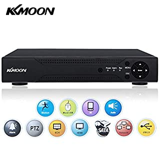 KKmoon 8CH AHD DVR 1080N/720P NVR HDMI P2P Cloud Network Onvif Digital Video Recorder support Plug and Play Android/iOS APP CMS Browser View Motion Detection Email Alarm