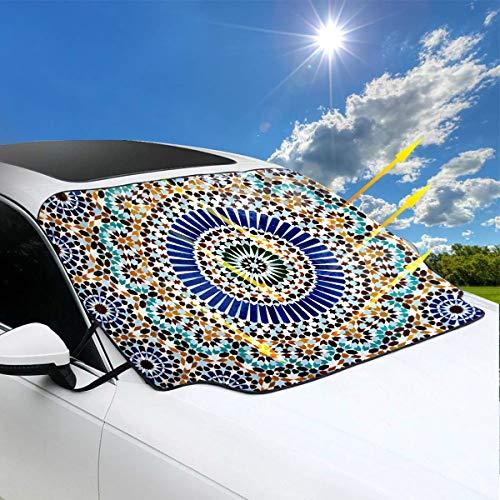 Autos Windschutzscheibe Sonnenschutz Maghrebi Träumen Die Große Moschee Von Paris Jpg Auto Sonnenschutzscheibe Niedlich 57,9x46,5 Zoll147cmx118cm für Die meisten Fahrzeuge Durch Schützen Sie Die Wind