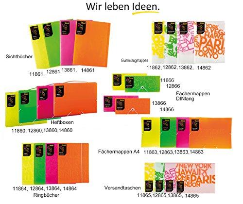 Idena 13865–Busta PP, formato C4, Neon/rosa