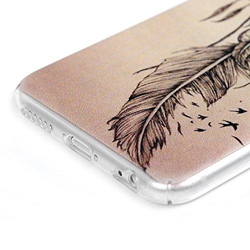 iPhone 6 / 6G / 6S Coque - Lanveni Coque Housse étui PC Plastique Léger Phone Case de Protection Complètement Dessin Coloré Transparent Attrape-Rêves Oiseaux Attrape-Rêves Oiseaux