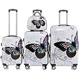2060 Valise trolley gepäckset valises rigides à roulettes formats valises valise rigide lot de 12 motifs en 1 kit pièce