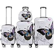 Reisekoffer 2060 Hartschalen Trolley Kofferset in 12 Motiven SET--XL-L--M-- Beutycase