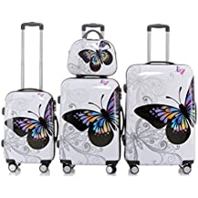 BEIBYE Reisekoffer 2060 Hartschalen Trolley Kofferset in 12 Motiven SET--XL-L--M-- Beutycase
