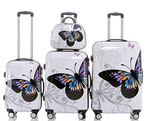 Set valigie rigide tipo trolley in policarbonato, 3 misure diverse o 4 (beauty-case incluso), 12 fantasie diverse, 2060