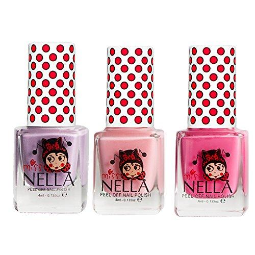 Miss Nella Schaukel rosa A Boo, Cheeky Bunny Glitter, Schmetterling Flügel GLITTER Special Glitzer Kinder Nagellack mit Peel Off auf Wasserbasis ()