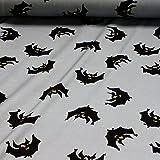 Stoff Baumwolle Lycra Single Jersey grau Fledermaus