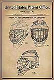 ComCard US patente–Design for a Goal Tenders Mask Ice Hockey–PROGETTO per un portiere Maschera per Hockey su ghiaccio–Hoshi Zaki–Design No 358232–1995–Targa in Latta, Metal Sign, Tin