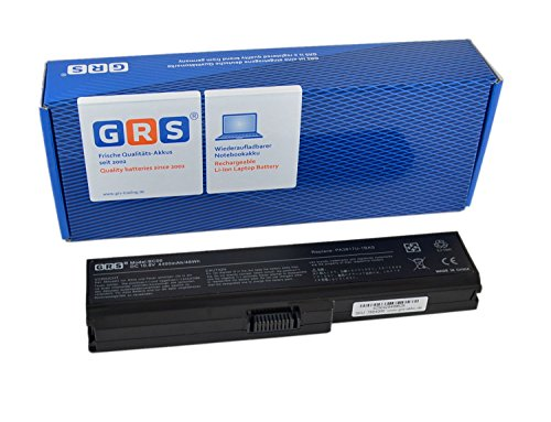 GRS–Batería para portátil TOSHIBA Satellite L750, Satellite L750D, sustituye a: PA3816U-1BAS, PA3537U-1BRS, PA3817U-1BRS, PA3818U-1BRS, PA3819U-1BRS, PABAS227, PABAS228, PABAS229, PABAS230Laptop Batería 4400mAh, 10.8V